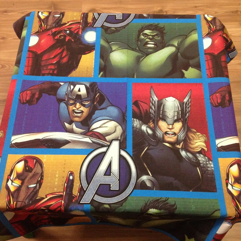 Table cloth (Avengers) for party hire Bloemfontein
