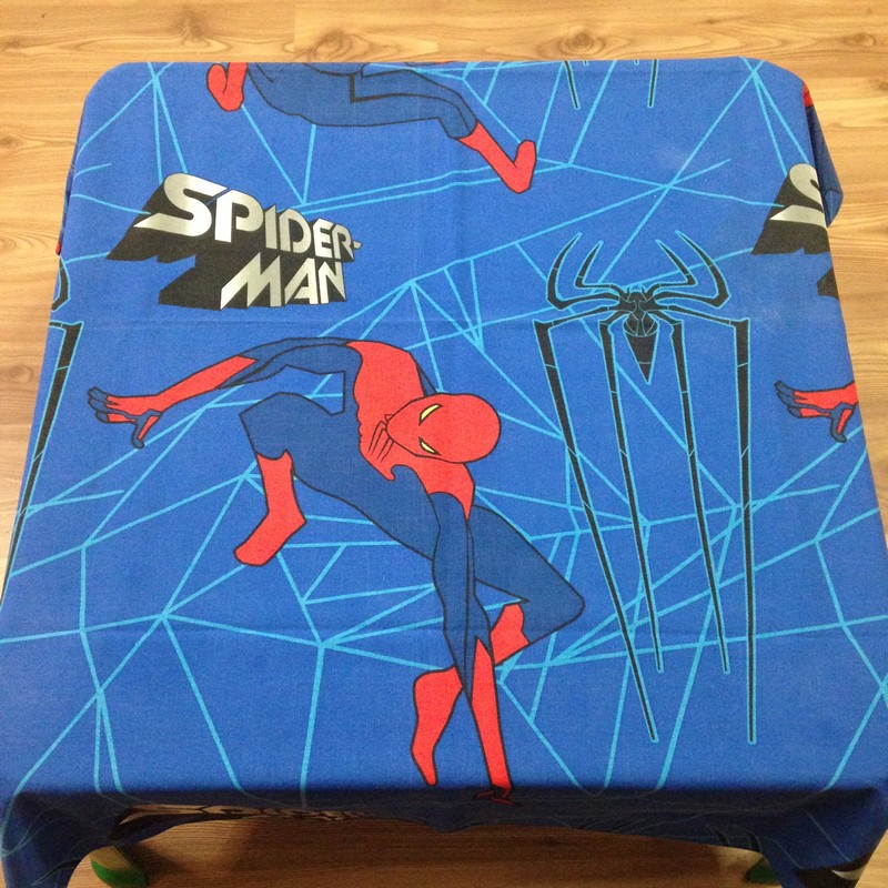 tables cloth (spiderman) for party hire bloemfontein